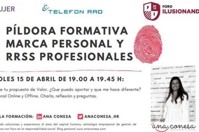 Colabora Conecta-Marca personal y RRSS profesionales. Ana Conesa