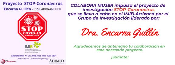 Colabora Mujer-STOP Coronavirus. Dra. Encarna Guillén